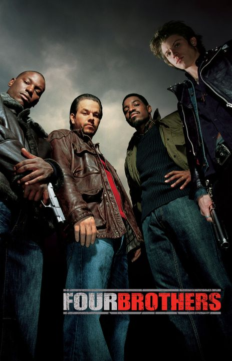Vier Brüder - Plakatmotiv - mit (v.l.n.r.) Tyrese Gibson, Mark Wahlberg, Andre Benjamin, Garrett Hedlund - Bildquelle: TM &   2006 Paramount Pictures. All Rights Reserved.
