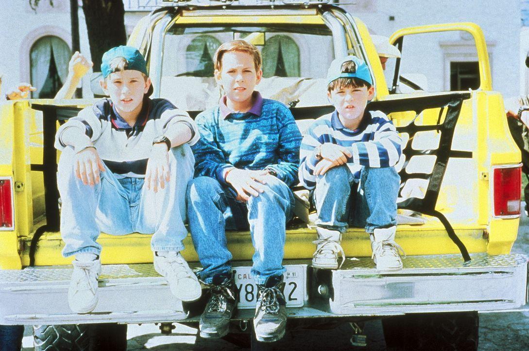 Die Karate-Brüder Rocky (Michael Treanor, l.), Colt (Max Elliot Slade, M.) und Tum Tum (Chad Power, r.) müssen erneut widerlichen Schurken das Handw... - Bildquelle: TriStar Pictures