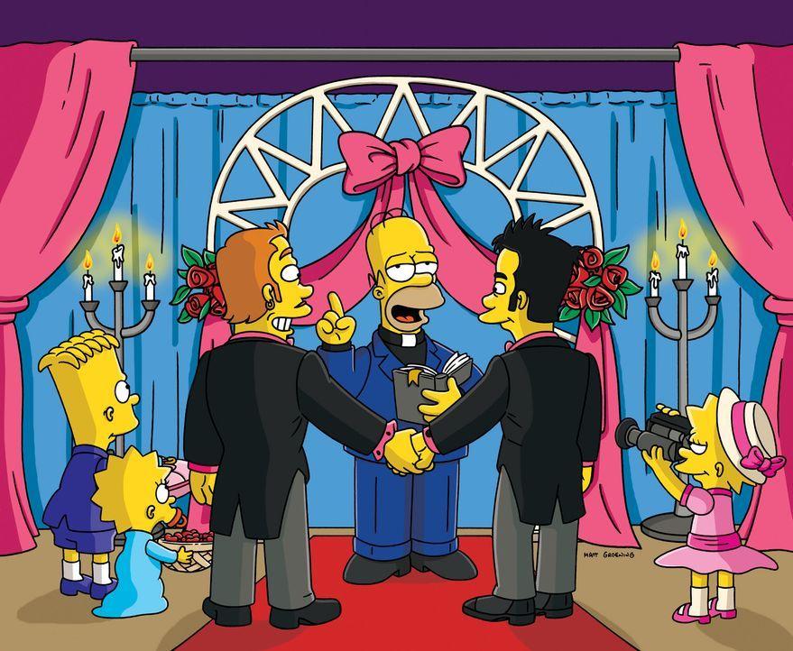 Um den Tourismus in Springfield wieder anzukurbeln, hat Lisa (r.) eine gute Idee. Bart (l.), Homer (2.v.r.) und Maggie (2.v.l.) sind natürlich mit... - Bildquelle: und TM Twentieth Century Fox Film Corporation - Alle Rechte vorbehalten