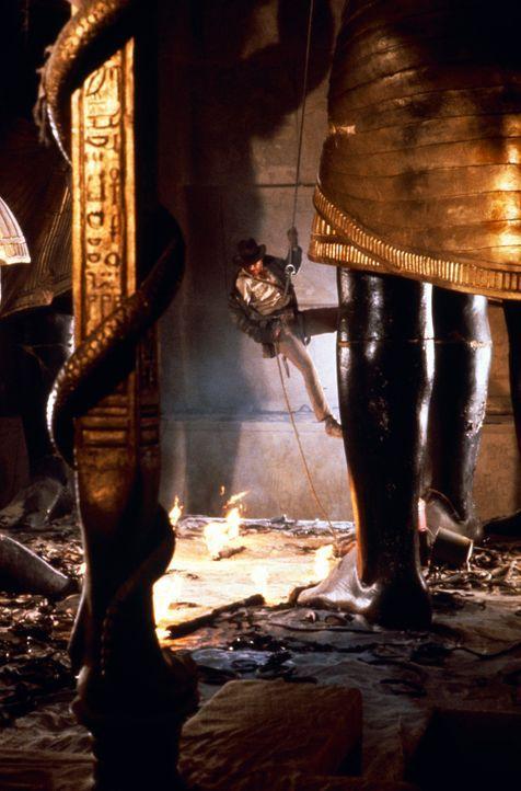 Archäologieprofessor Indiana Jones (Harrison Ford) riskiert mal wieder Kopf und Kragen ... - Bildquelle: Paramount Pictures International