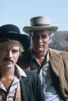 Zwei Banditen - Butch Cassidy (Paul Newman, r.) und Sundance Kid (Robert Redf...