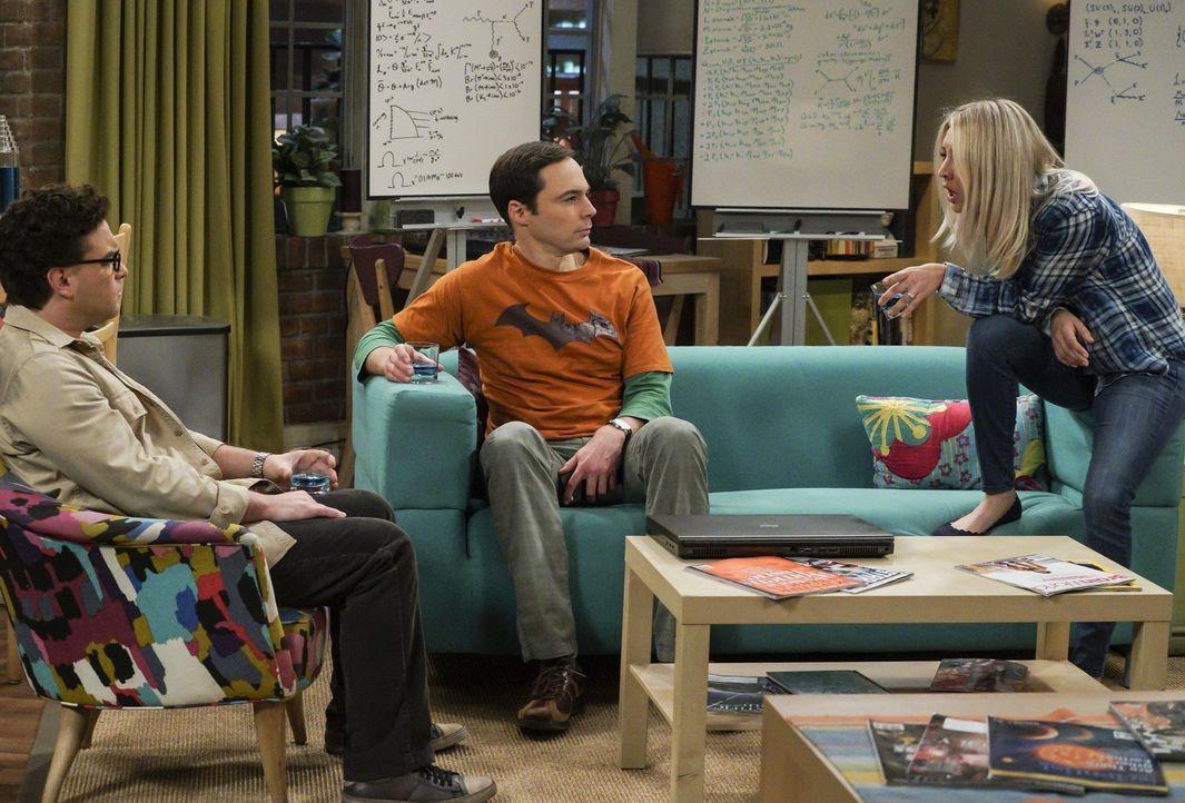 Als Leonard (Johnny Galecki, l.) Sheldon (Jim Parsons, M.) um einen Rat fragt, verfallen die beiden gemeinsam in eine Art Trauer darüber, wie wenig... - Bildquelle: Warner Bros. Television