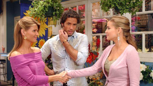 Ava (Lori Loughlin, l.) lernt Johnnys (Shawn Christian, M.) Geschäftspartneri...