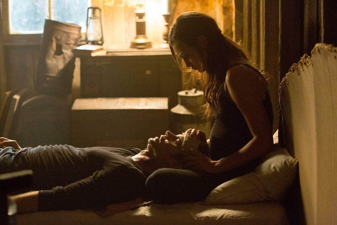 So lange wie möglich versucht Hayley (Phoebe Tonkin, r.), Elijah (Daniel Gillies, l.) beizustehen, aber ihre Vergangenheit lockt sie fort ... - Bildquelle: Warner Bros. Television
