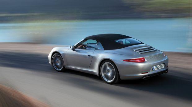 Star der diesjährigen Open-Air-Saison: der neue Porsche 911 Cabrio ... © Porsche