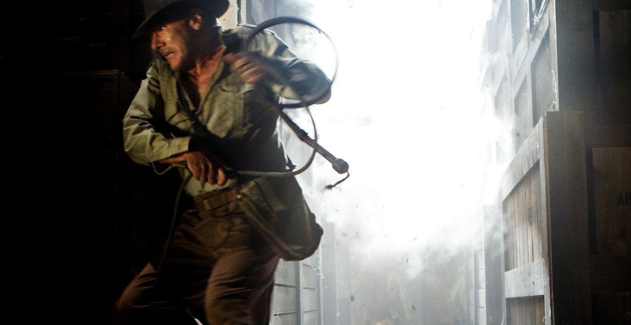 Gerät von einer brenzligen Situation in die nächste: Indiana Jones (Harrison Ford) ... - Bildquelle: & TM 2008 Lucasfilm Ltd. All Rights Reserved.