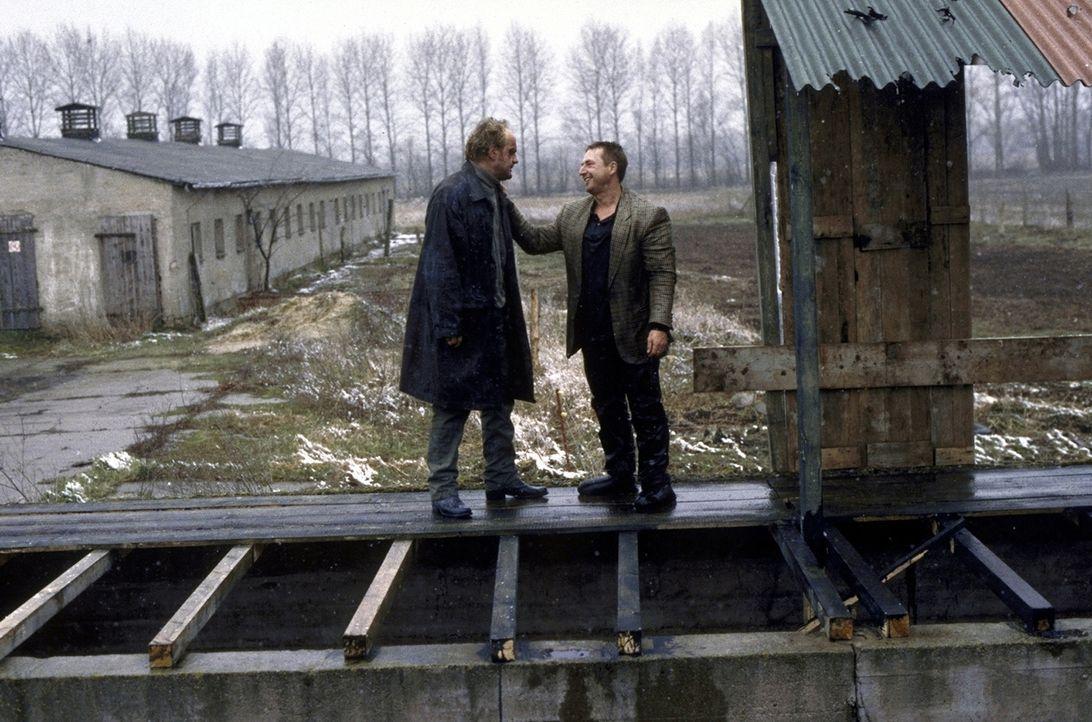 Hajo (Uwe Ochsenknecht, l.) und Jockel (Martin Semmelrogge, r.) sind entschlossen, die Verbrecher eines Geschäftsmannes und seiner Komplizen aufzude... - Bildquelle: T. Landgräber ProSieben