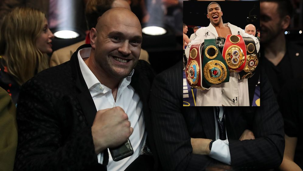 Wiedersehen im Ring? Tyson Fury würde Weltmeister Anthony Joshua (kl. Foto) ... - Bildquelle: Getty Images