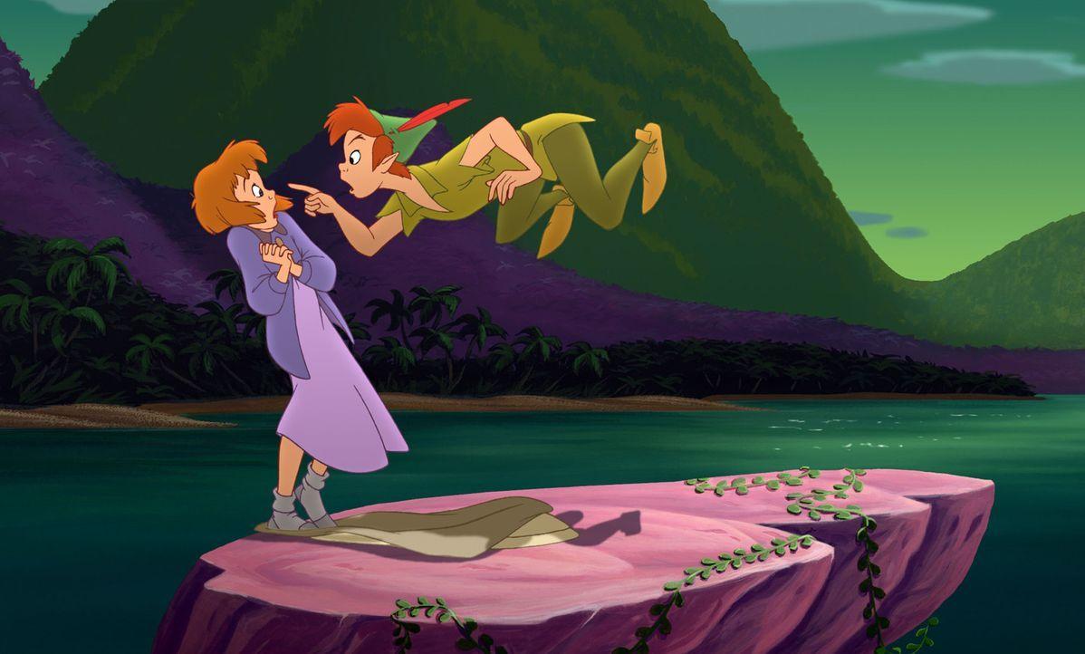 Jane (l.) hat nur einen Wunsch: Sie will wieder nach Hause. Da schließt sie mit dem schurkischen Käpt'n Hook einen dubiosen Vertrag ab. Erst spät... - Bildquelle: Disney