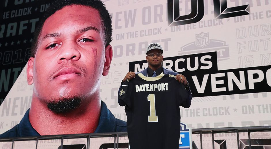 14. Pick - New Orleans Saints: DE Marcus Davenport - Bildquelle: getty