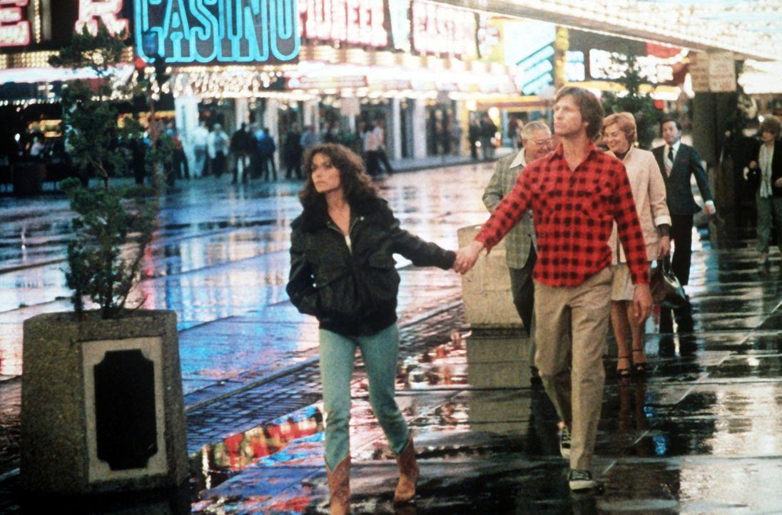 Jenny (Karen Allen, l.) fühlt sich von dem liebenswerten und unbeholfenen Außerirdischen (Jeff Bridges, r.) gleichzeitig angezogen und geängstigt. D... - Bildquelle: Columbia Pictures