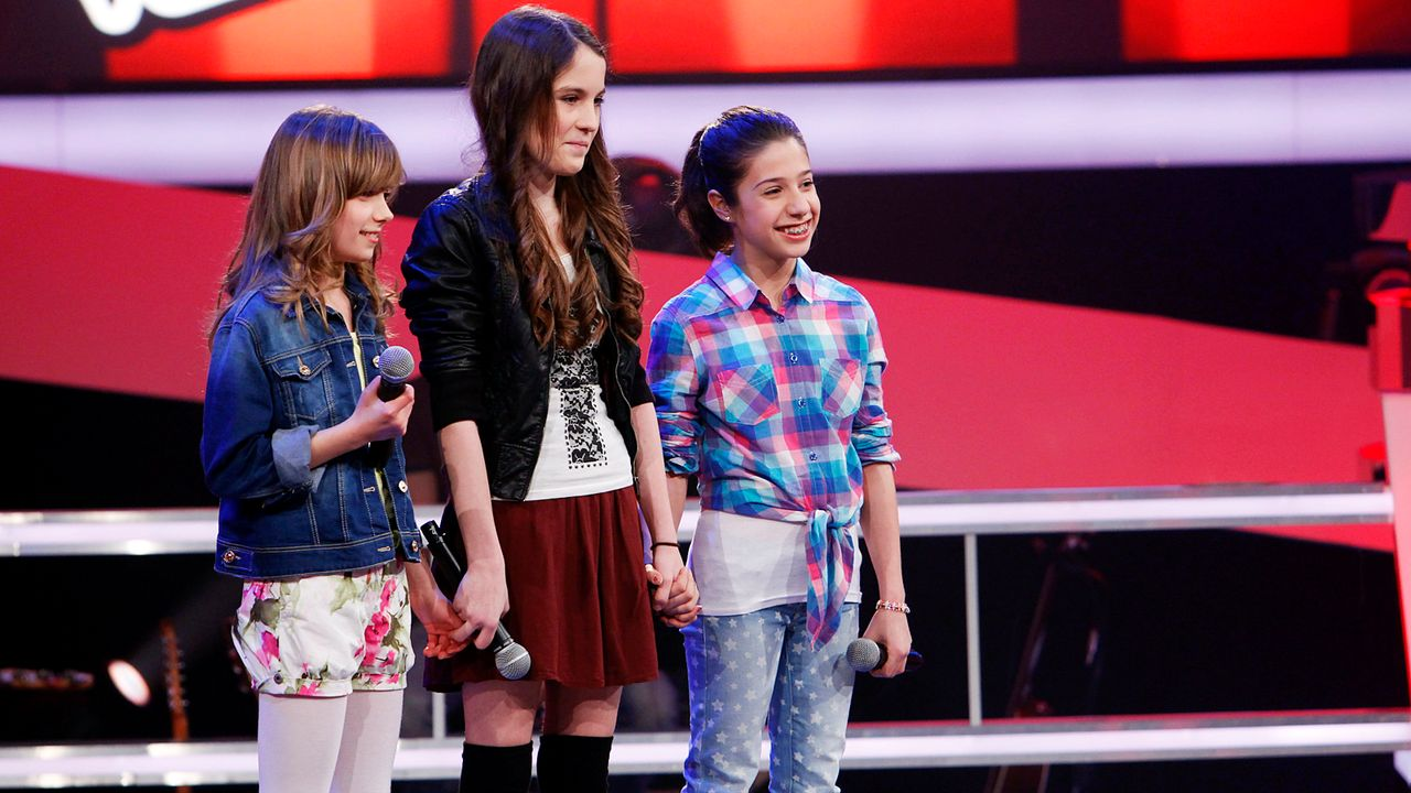 The-Voice-Kids-epi05-JulikaMicheleMarie-3-SAT1-Richard-Huebner - Bildquelle: SAT.1/Richard Hübner