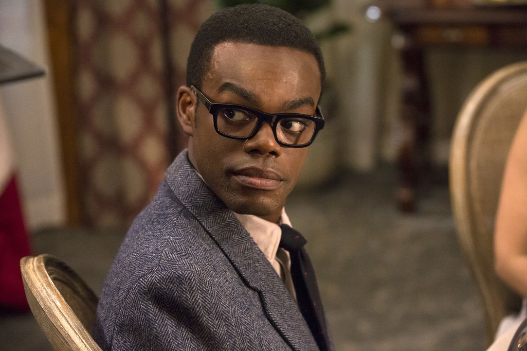Versucht mit allen Mitteln Eleanor in einen guten Menschen zu verwandeln: ihr Seelenverandter Chidi (William Jackson Harper) ... - Bildquelle: Justin Lubin 2016 Universal Television LLC. ALL RIGHTS RESERVED.