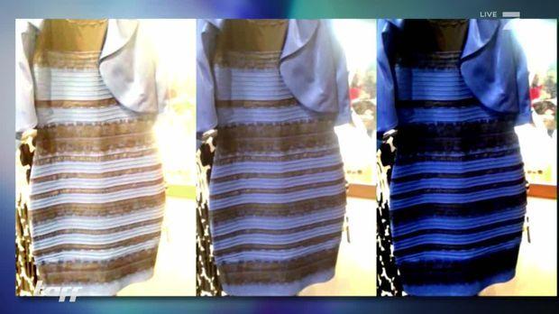 Schwarz blaues kleid warum