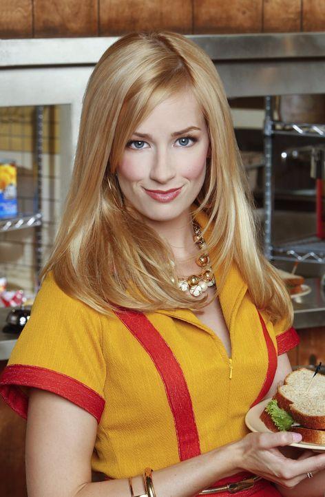 (1. Staffel) - Nachdem ihre Familie von einem Tag auf den anderen Pleite geworden ist, ist Caroline (Beth Behrs) gezwungen als Kellnerin zu arbeiten... - Bildquelle: Warner Brothers