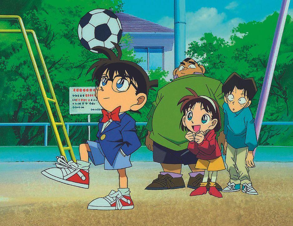 Gemeinsam sind sie die Detective Boys: (v.l.n.r.) Conan, Genta, Ayumi und Mitsuhiko ... - Bildquelle: Gosho Aoyama / Shogakukan, YTV, TMS 1996