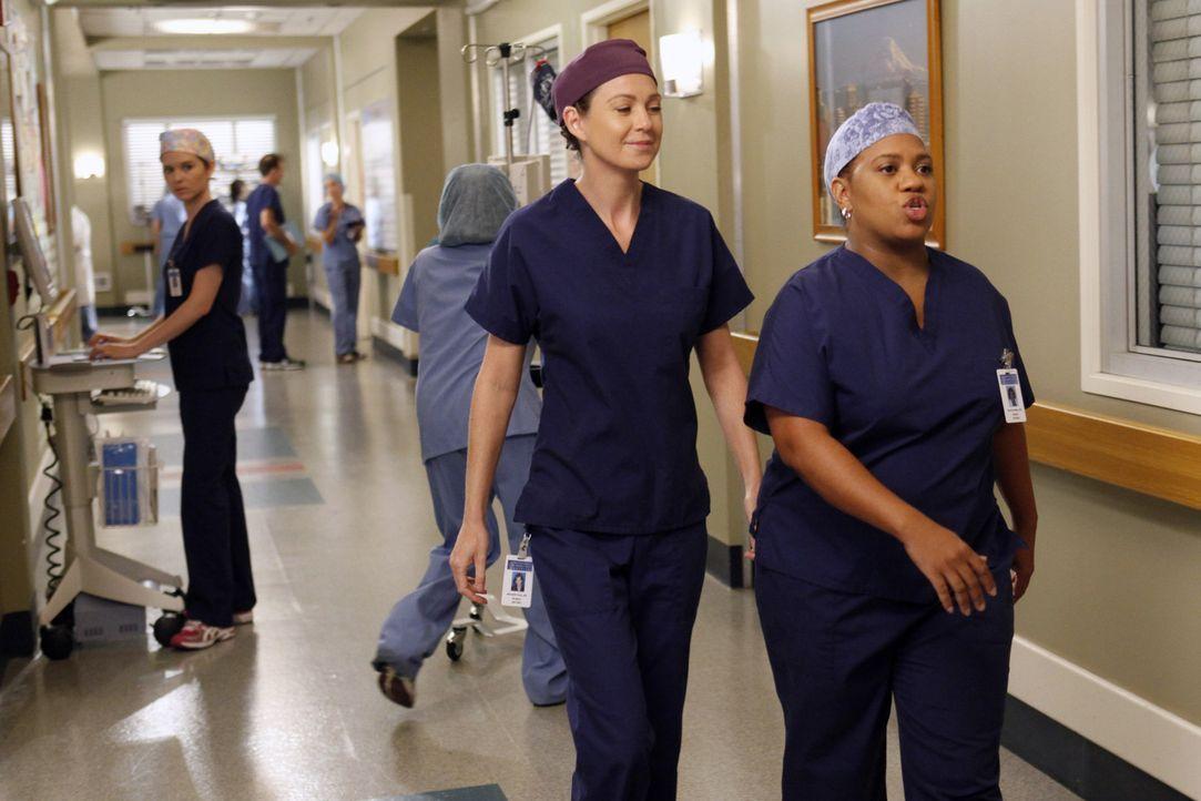 Immer im Einsatz um Leben zu retten: Bailey (Chandra Wilson, r.) und Meredith (Ellen Pompeo, 2.v.r.) ... - Bildquelle: ABC Studios