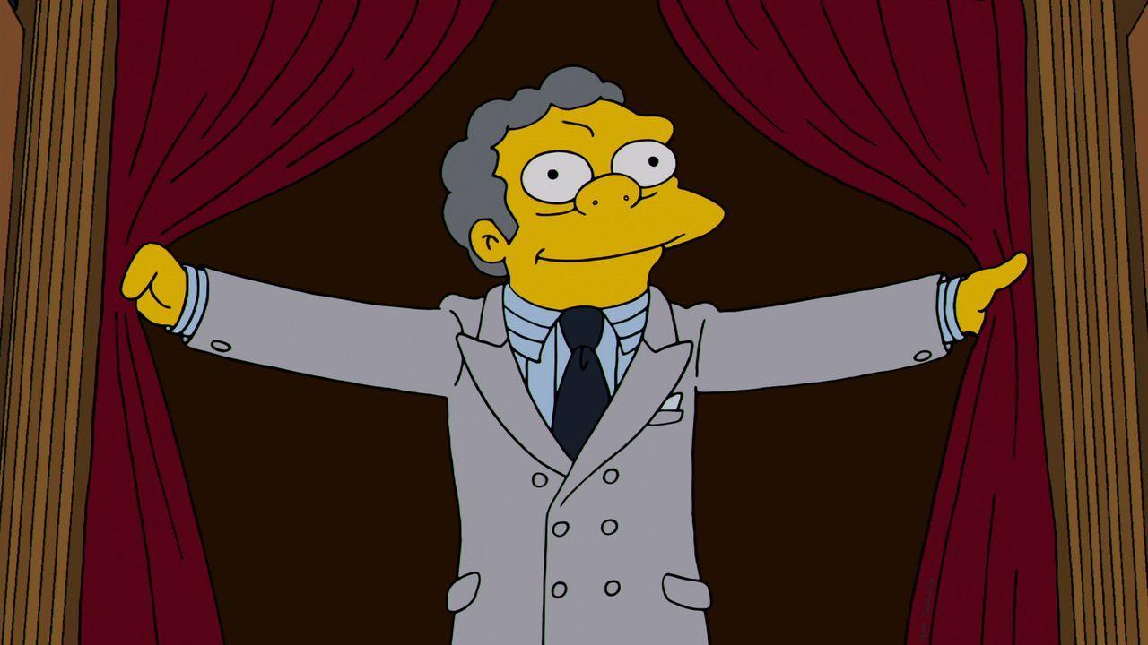 Um Moe nach seinem Selbstmordversuch wieder aufzubauen, fahren Marge, Carl und Lenny mit ihm nach Capital City. Ein neuer Anzug soll sein Selbstbewu... - Bildquelle: und TM Twentieth Century Fox Film Corporation - Alle Rechte vorbehalten
