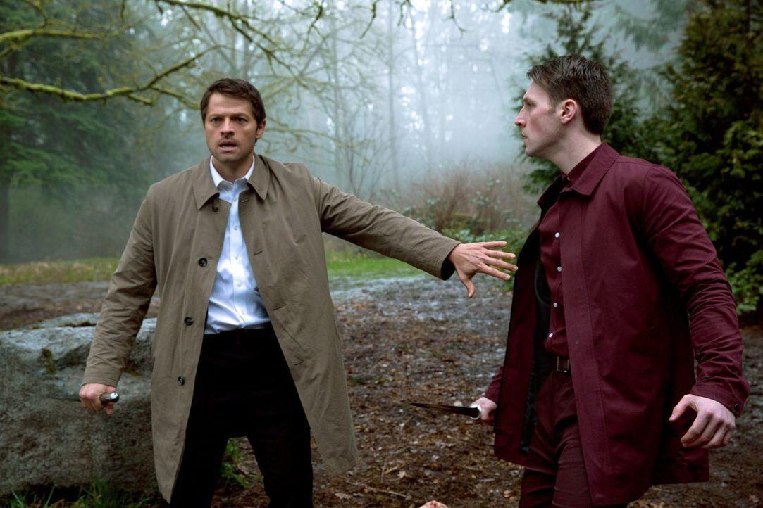 Kann Castiel (Misha Collins, l.) seiner rechten Hand Benjamin (Malcolm Masters, r.) wirklich vertrauen? - Bildquelle: 2013 Warner Brothers