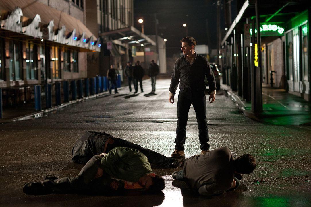 Mit ihm sollte man sich besser nicht anlegen: der ehemalige Militärpolizist Jack Reacher (Tom Cruise) ... - Bildquelle: Karen Ballard MMXII Paramount Pictures Corporation. All Rights Reserved.