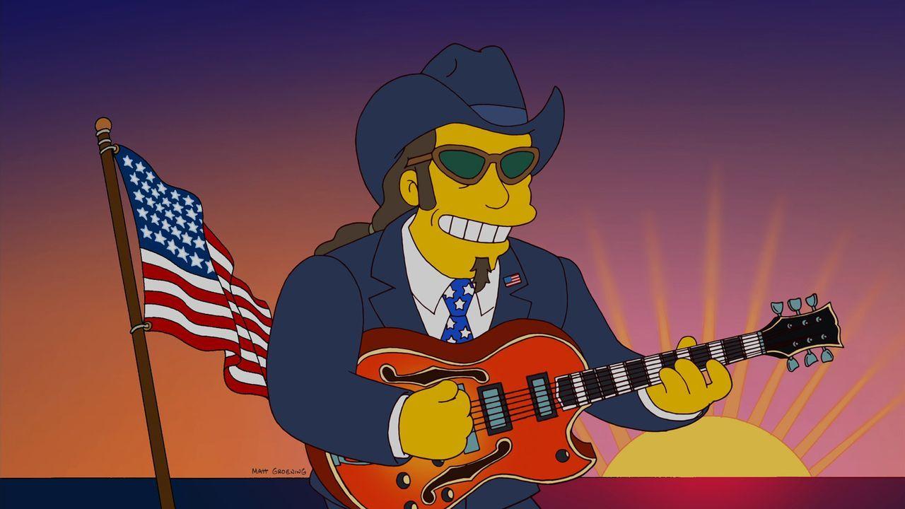 Ist Homers Favorit als Präsidentschaftskandidat: Rockmusiker Ted Nugent ... - Bildquelle: und TM Twentieth Century Fox Film Corporation - Alle Rechte vorbehalten