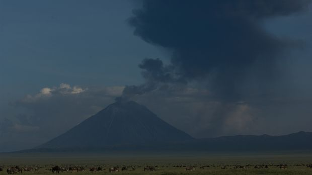Der aktive Vulkan Ol Doinyo Lengai in Tansania sorgt immer wieder für Verände...