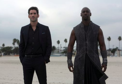 Lucifer - Wird Amenadiel (D.B. Woodside, r.) Lucifer (Tom Ellis, l.) tatsächl...