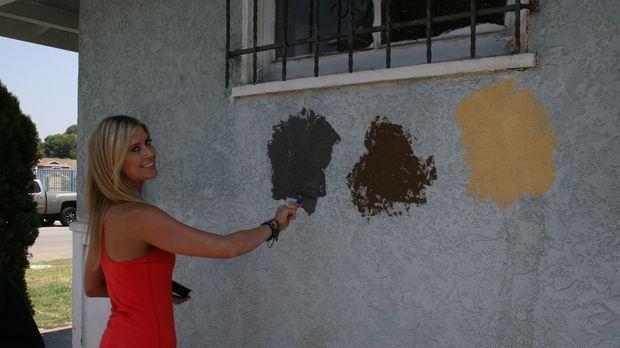 Christina El Moussa macht den Farbtest, denn nur mit der perfekten Wahl werde...