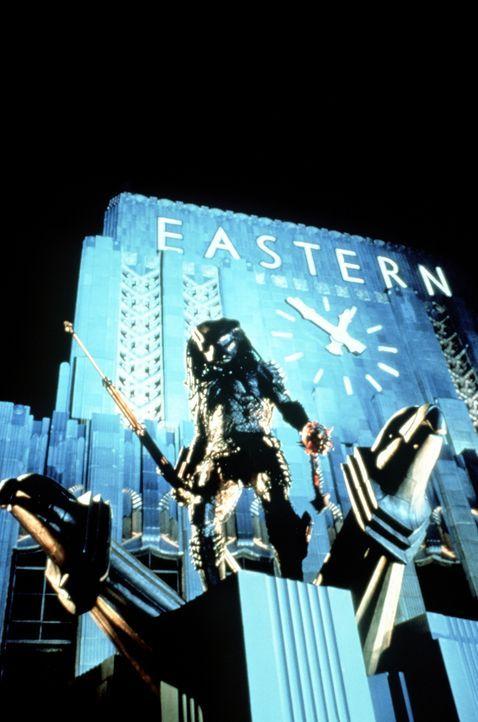 Der Predator (Kevin Peter Hall) richtet seine Opfer aufs Übelste zu ... - Bildquelle: 1990 Twentieth Century Fox Film Corporation.