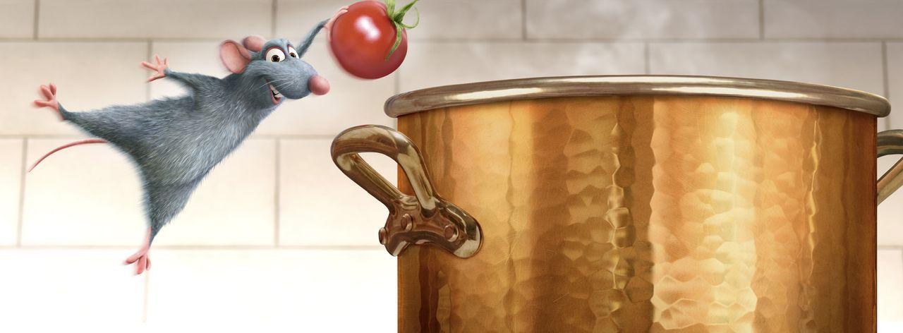 Ratte Remy ist so ganz anders als seine Artgenossen. Statt sich wie diese an gammeligen Abfällen zu laben, steht ihm der Geschmack eher nach kulina... - Bildquelle: Disney/Pixar.  All rights reserved