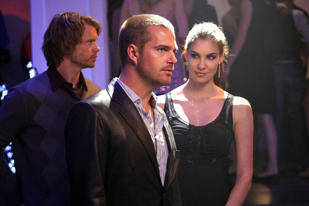 Die Spur in ihrem neuen Fall, führt Callen (Chris O'Donnell, M.), Kensi (Daniela Ruah, r.) und Deeks (Eric Christian Olsen, l.) in einen angesagten... - Bildquelle: CBS Studios Inc. All Rights Reserved.