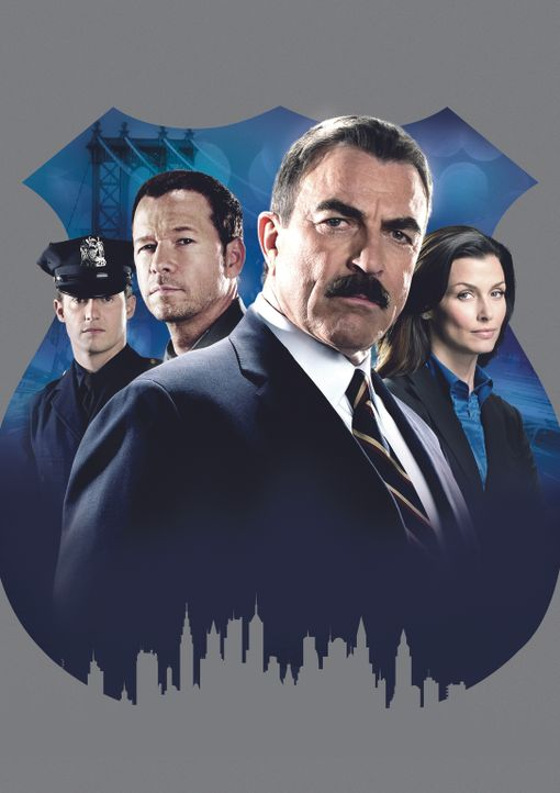 (2. Staffel) - Familie Reagan sorgt in New York für Recht und Ordnung: Jamie (Will Estes, l.), Frank (Tom Selleck, 2.v.r.), Danny (Donnie Wahlberg,... - Bildquelle: 2010 CBS Broadcasting Inc. All Rights Reserved