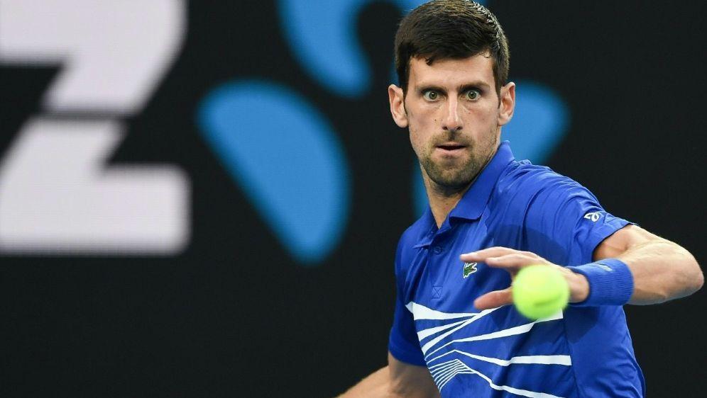 Trifft im Halbfinale auf Lucas Pouille: Novak Djokovic - Bildquelle: AFPSID