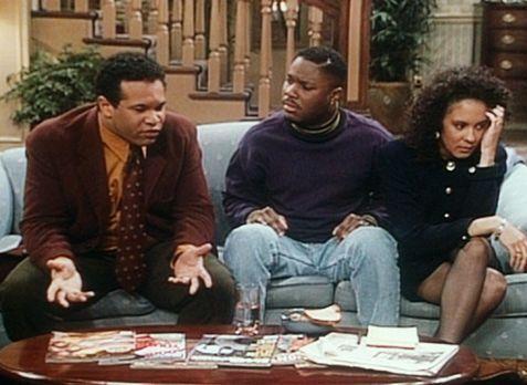 Bill Cosby Show - Elvin (Geoffrey Owens, l.) und Sondra (Sabrina LeBeauf, r.)...