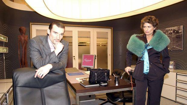 Richard von Brahmberg (Karim Köster, l.) und seine Mutter Sophie (Gabrielle S...