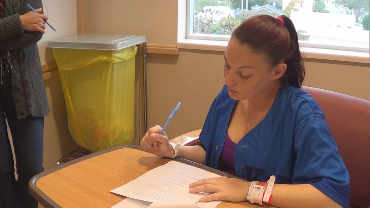 Nachdem Amanda jahrelang Drogenabhängig war, versucht sie jetzt wieder im Leben Fuß zu machen. Ihr erster Schritt wird sein, das Ungeborene zur Adop... - Bildquelle: 2013 NBCUniversal Media, LLC