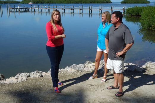 Andrea (M.) und Steve (r.) machen seit Jahren Urlaub auf den Florida Keys, do...