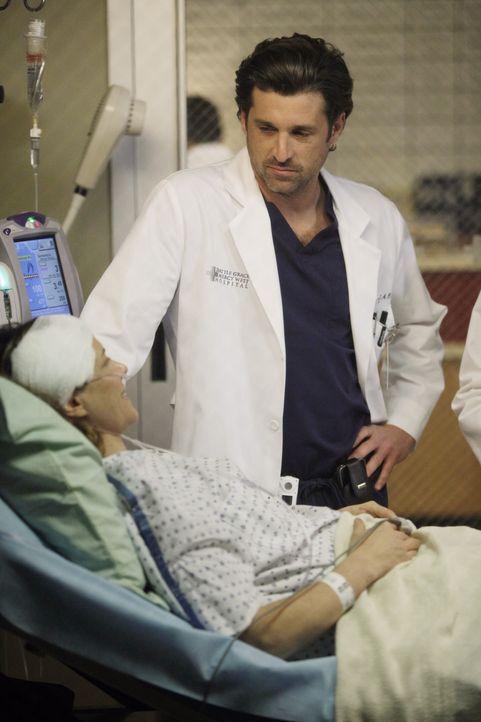 Erica (A.J. Langer, l.) reist mit Cooper und Charlotte nach Seattle um dich von Derek (Patrick Dempsey, r.), Lexie und Amelia operieren zu lassen. D... - Bildquelle: ABC Studios