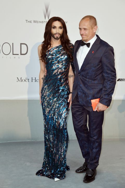 Cannes-Filmfestival-amfAR-Conchita-Wurst-Gery-Keszler-140522-AFP - Bildquelle: AFP