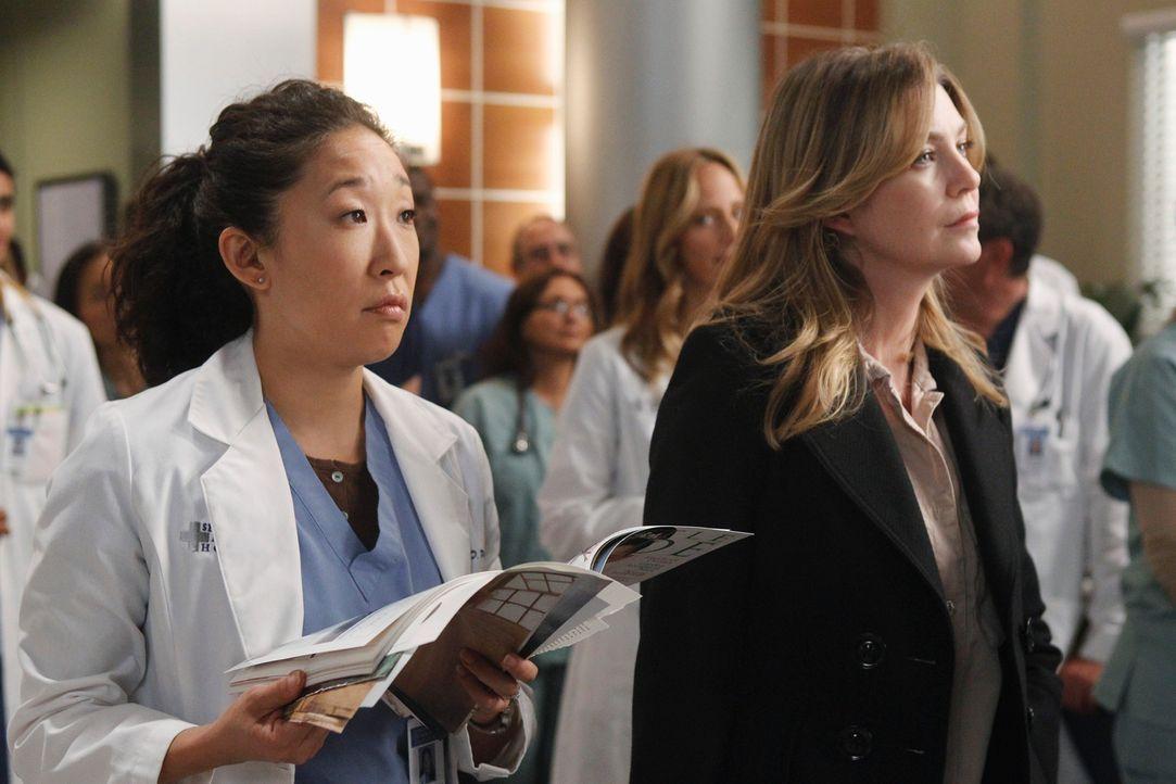 Können nicht glauben, was Derek gerade gesagt hat: Meredith (Ellen Pompeo, r.) und Cristina (Sandra Oh, l.) ... - Bildquelle: ABC Studios