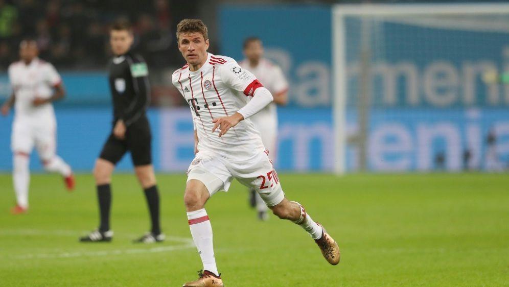 Zufrieden nach dem Sieg in Leverkusen: Thomas Müller - Bildquelle: FIROFIROSID