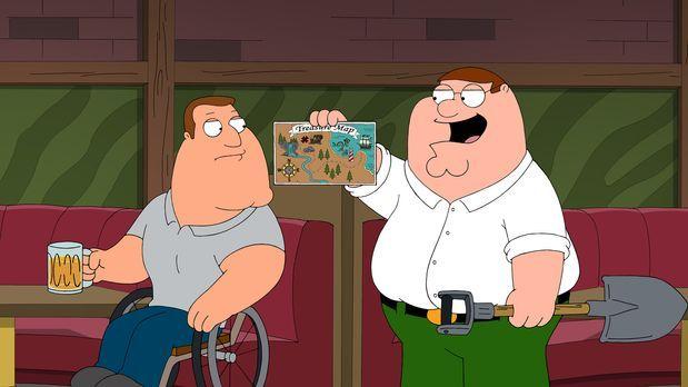 Family Guy - Peter (r.) entdeckt in einem Familienrestaurant auf einem Platzs...