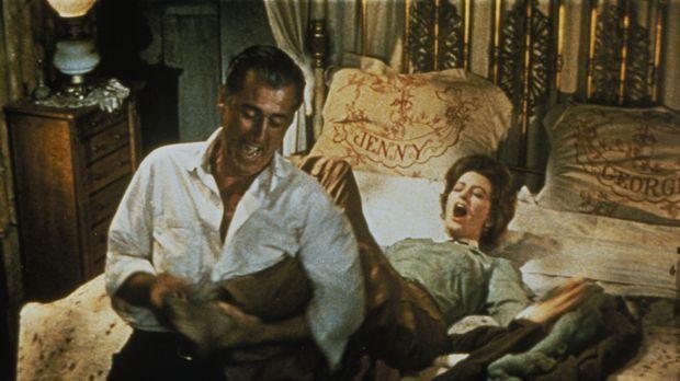 Eigentlich wollte George (Stewart Granger, l.) seine Verlobte nach Hause hole...
