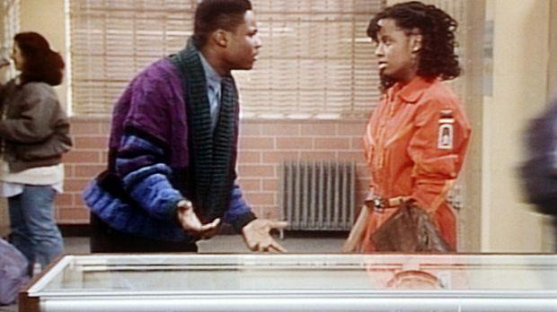 Theo (Malcolm-Jamal Warner, l.) erfährt von Vanessa (Tempsett Bledsoe, r.), d...
