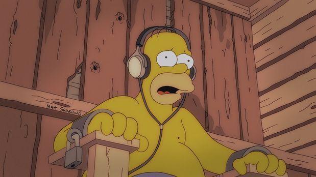 Die Simpsons - Homer, Lenny und Carl sind auf einen Nuklear-Arbeiter-Kongress...