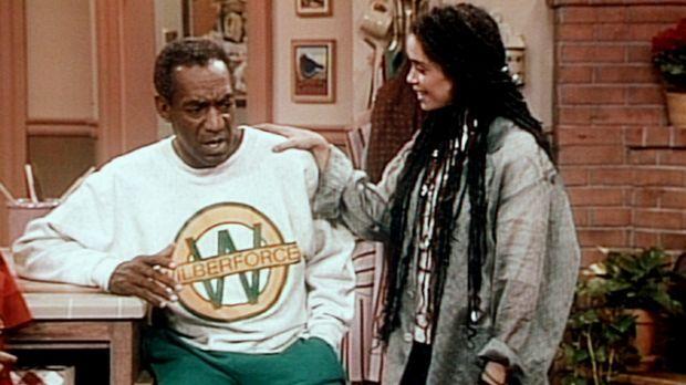 Cliff (Bill Cosby, l.) hat ein Problem, nachdem er die Neuigkeiten von seiner...