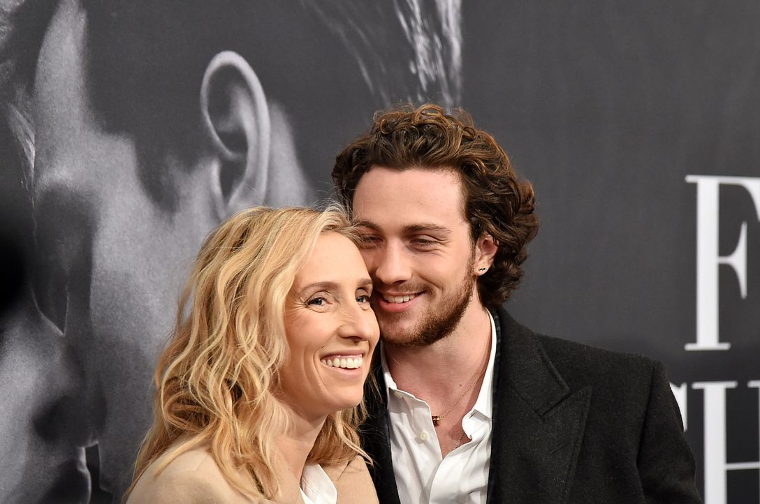 Fifty-Shades-Of-Grey-NY-screening-Sam-Taylor-Johnson-Aaron-Taylor-Johnson-15-02-06-getty-AFP - Bildquelle: getty-AFP