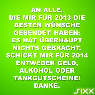 Visual Statements: Neujahrswünsche - Bildquelle: sixx