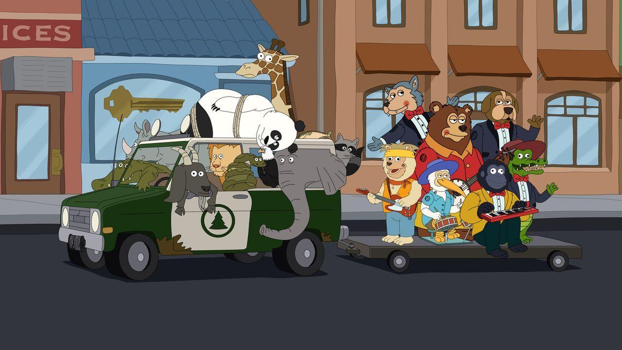"""Am """"Tag der Erde"""" veranstaltet Woody aus reiner Profitgier ein Fest, das rein gar nichts mehr mit Umweltschutz zu tun. Die Tiere sind sauer und woll... - Bildquelle: 2013 Twentieth Century Fox Film Corporation and Comedy Partners. All rights reserved."""