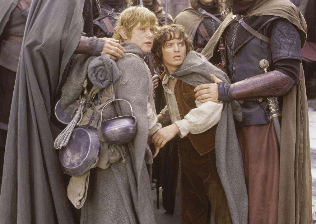 Die Aufgabe, den Ring zu vernichten, wird für Sam (Sean Astin, l.) und Frodo (Elijah Wood, r.) immer schwieriger. Die beiden Hobbits müssen sich näm... - Bildquelle: Warner Brothers